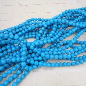 Turquoise Beads Jewelry Making Supplies Strand